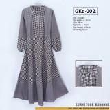 GKs-002 Gamis Katun Kombinasi