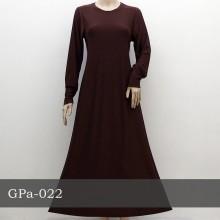GPa-022 Gamis Polos Semi Klok
