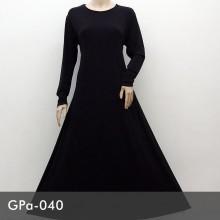 GPa-040 Gamis Polos Semi Klok
