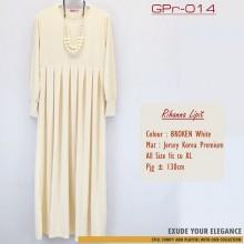 GPr-014 Gamis Polos Rempel Dada