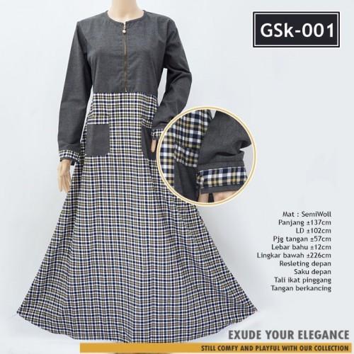 Gsk 001 Long Dress Semi Woll Flanel