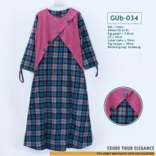 GUb-034 Gamis Linen Dress Fashion