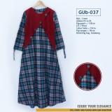 GUb-037 Gamis Linen Dress Fashion