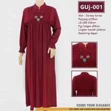 GUj-001 Gamis jersey Resleting /probreastfeeding