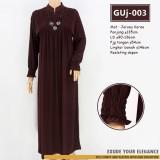 GUj-003 Gamis jersey Resleting /probreastfeeding