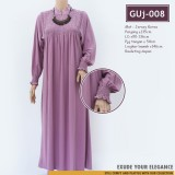 GUj-008 Gamis jersey Resleting /probreastfeeding