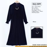 GUj-009 Gamis jersey Resleting /probreastfeeding