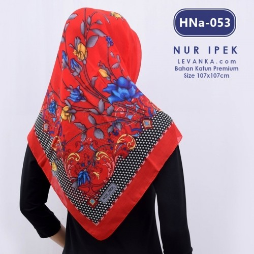 HNa-053 HIJAB SQUARE COTTON by NUR IPEK