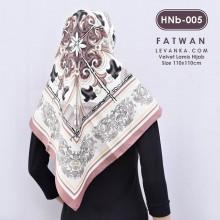 HNb-005 Hijab Square Velvet by Fatwan
